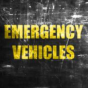 Emergency services sign Stock Illustration