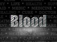 Medicine concept: Blood in grunge dark room Piirros