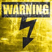 High voltage sign - stock illustration