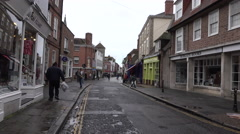 Canterbury England market city center stores 4K Stock Footage