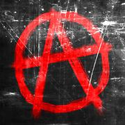 Anarchy sign with rough edges Stock Illustration