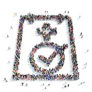 People  questionnaire medicine icon Stock Illustration