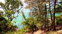 Phuket island paradise beach hill panorama 4k time lapse thailand Stock Footage