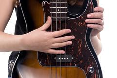 Hands on bass guitar Kuvituskuvat