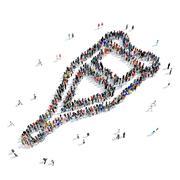 people crutch medicine icon - stock illustration