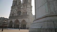 Cathédrale Notre-Dame de Paris, France (Notre-Dame Cathedral) Stock Footage