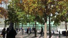 NEW YORK CITY – CIRCA OCTOBER, 2015: 911 Memorial at World Trade Center Ground Stock Footage