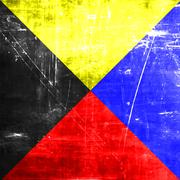 Zulu maritime signal flag - stock illustration