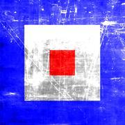 Whiskey maritime signal flag - stock illustration