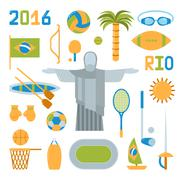 Stock Illustration of Rio summer olympic games icons vector illustration