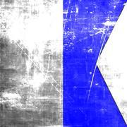 Alpha maritime signal flag - stock illustration
