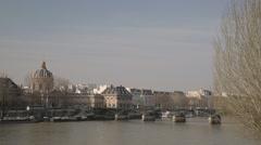 River Seine - Paris, France Stock Footage