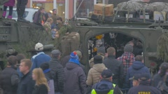 Soldiers Entertain Public Nato Operation in Opole Exhibition of Military Stock Footage