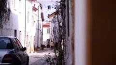 street city Tomar - stock footage