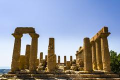 Ancient Greek Temple of Juno God, Agrigento, Sicily, Italy - stock photo