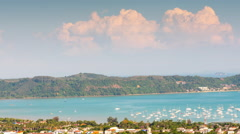 Day light phuket town port panorama 4k time lapse thailand Stock Footage