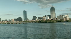 Boston City, Charles River 1 Stock Footage