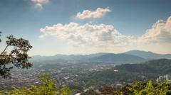 Sun light phuket town monkey hill panorama 4k time lapse thailand Stock Footage