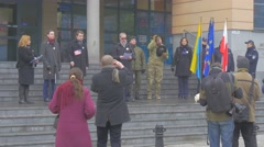 Arkadiusz Wisniewski Mayor of Opole Representative of us Army Nato Operation Stock Footage