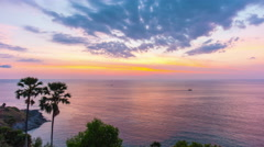 Famous phuket viewpoint sunset panorama 4k time lapse thailand Stock Footage