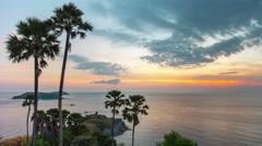 Prompthet cape sunset phuket island panorama 4k time lapse thailand Stock Footage