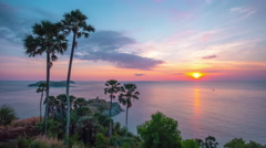 Tourist famous prompthet observation viewpoint sunset 4k time lapse thailand Stock Footage