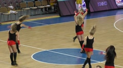 Dancing girl cheerleader - stock footage