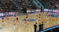 Dancing girl cheerleader Stock Footage