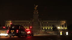 Front View Buckingham Palace London Timelapse Stock Footage