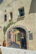 Sigean (Languedoc-Roussillon, France): trompe-l'oeil - stock photo