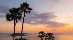 Phuket island famous sunset panorama 4k time lapse thailand Stock Footage