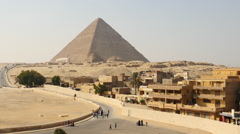 Time Lapse of Great Pyramids & Sphinx Daytime at Giza - Egypt - stock footage