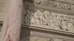 Arc de Triomphe du Carrousel CLOSE UP - Paris, France Stock Footage