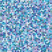 Multicoloured hex tiles. Mosaic. Eps 10. - stock illustration