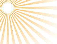 Stock Illustration of Vector abstract colored rays of the sun.