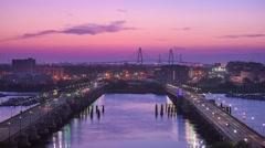 Charleston, South Carolina, USA skyline over the Ashley River. Stock Footage