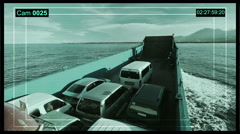 Stock Video Footage of Surveillance cameras record the ships in the big city. CCTV security cameras.