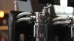 close-up of beer tap without bottles - stock footage
