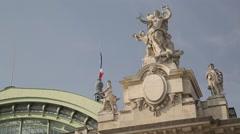 Grand Palais CLOSE UP - Paris, France Stock Footage