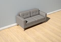 Modern Couch In Room - stock illustration