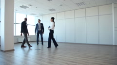 Business Team Comes in an Empty Office Stock Footage