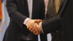 Shake hands,Sign a Contract Stock Footage