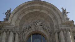 Petit Palais - Paris, France Stock Footage