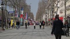 Avenue des Champs-Élysées - Paris, France Stock Footage