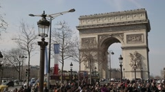 Arc de Triomphe de l'Etoile. Paris, France - stock footage
