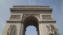 Arc de Triomphe de l'Etoile. Paris, France Stock Footage