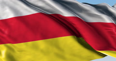 Ultra realistic looping flag: North Ossetia Stock Footage