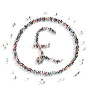 group  people  pound sign - stock illustration