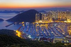 hong kong aberdeen - stock photo