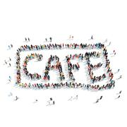 Stock Illustration of people  shape cafe signboard